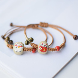 $enCountryForm.capitalKeyWord NZ - Designer Love Ceramic Cat Charm Bracelet Korean Creative Handwork style Couple Bracelet Ornament Jewelry Charm Men bracelet