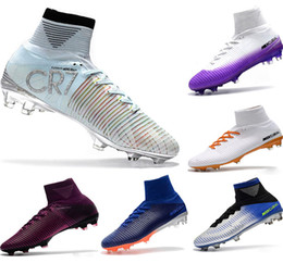 Football Kids Superfly Australia - Hot Kids Soccer Shoes Mercurial CR7 Superfly V FG Boys Football Bootses Magista Obra 2 Women Youth Soccer Cleats Cristiano Ronaldo