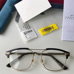 $enCountryForm.capitalKeyWord Australia - New quality GG0241S unisex eyeglasses frame 54-17-145 double-bridge metal+plank for younger prescription glasses full-set case oem outlet