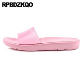 Big Toes Slippers Australia - clear indoor transparent house bathroom open toe home plus size women footwear shoes pink ladies slipper big slides bedroom 2018