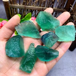 $enCountryForm.capitalKeyWord Australia - 50g Tumbled Green Fluorite Stones Raw Natural Crystals Gemstone for Cabbing, Tumbling, Wire Wrapping, Wicca Reiki Healing