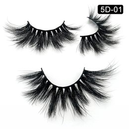 eyelashes clusters Canada - Real Mink Lashes 25MM Makeup Natural Eyelashes Extension Long Cluster Lashes 5D Mink Strips Dramatic Eyelashes Vendor