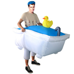 $enCountryForm.capitalKeyWord UK - Inflatable Cosplay Costume Ride On Bathtub Go Out With A Bath Swimming Lovely Fancy Dress Halloween Costume for Men Dress
