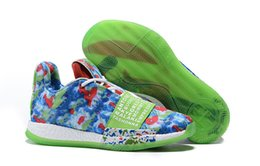 cheap pink running shoes UK - 2019 New Arrive Harden 3 Vol.3 BHM Limited Bluish Green Sports Basketball Shoes Cheap Sale 3S One Mens Training Sneakers Size 40-46