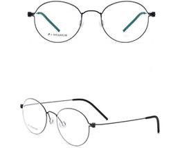 TiTanium prescripTion glasses online shopping - Belight Optical Titanium Ultra light Mens Round Retro Vintage Screwless Glass Frames Designer EyeGlasses Prescription