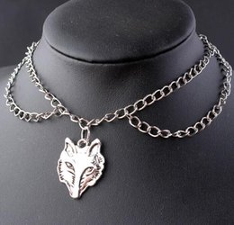 $enCountryForm.capitalKeyWord NZ - Skull Bird Head Fox Bat Necklaces&Pendants Double Chain Gothic Choker Necklace For Women Collares Halloween Necklace Jewelry Gifts