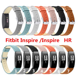 fitbit wristband straps Australia - Genuine Leather Wristband Strap Bracelet For Fitbit Inspire   Inspire HR Activity Tracker Smartwatch Replacement Watch Band Wrist Strap