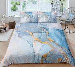 3d Bedding Set White Rose Australia - Thumbedding Dropship Classic Style Bedding Sets Marble Pattern Fashionable Design Twin Full Queen King 3D Duvet Cover Set Colorful Bed Set