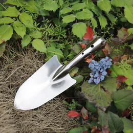 hiking shovel UK - Free Shipping Horticultural Garden Tools Stainless Steel Portable Bonsai Flower Shovel Hiking Picnic Camping Spade Survival Tool