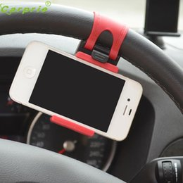 Discount cell phone mount stand - Auto Car Steering wheel phone Universal Mount Holder Stand for Cell Phone GPS Dec12