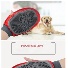 dog glove hair brush Australia - Pet Grooming Glove For Combing Hair Remove Brush Grooming Cleaning Massage Bath Large Dog Brush Comb Pet Cat Dog Accessories