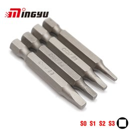 Power screwdriver bits online shopping - 4pcs mm Square Bit Set quot mm Hex Shank Electric Screwdriver Bit Kit Household Repair Tools S0 S1 S2 S3 Power Tools
