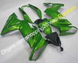 Plastic Er Australia - For Kawasaki Ninja 650 650R ER6F 2009 2010 2011 Ninja650 ER-6F ER 6F Motorbike Green Black Body Aftermarket Kit Fairing