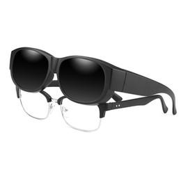 753ac8c6a1c58 Vazrobe Clip on Polarized Sunglasses Men Women Day Night Driving Fit Over  Glasses Frame Prescription Eyewear Polaroid Driver