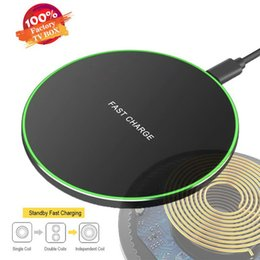 wireless power bank iphone Australia - Hot 10W Alloy Power Bank Fast Qi Wireless Charger Charging Pad For Sansung Galaxy S9 S8 Plus Note 8 Iphone X 8 LED Quick Charger