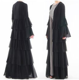 Dress Nation Australia - Muslim nation clothing Women's Dress Long sleeve Floor-length Dress new size S M L XL XXL quinceanera