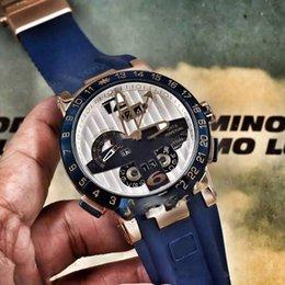 Großhandel 44mm Automatik Uhrwerk Herrenuhren Hochwertige Herren Armbanduhren Leuchtzeiger Und Marker Drehbar Beze Schwarzes Zifferblatt