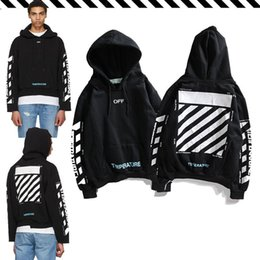 Wholesale Best selling new classic designer OFW slash bar printing base sweater casual fashion tide brand hoodie luxury couple hip hop street sweater