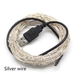 usb string holiday lights NZ - Umlight1688 5V USB LED String Light 10M 5M Copper Silver wire Waterproof Fairy LED Christmas Lights For Wedding Party Holiday Decoration