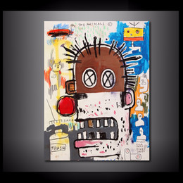 Best Canvas Prints Canada - Jean Michel Basquiat - The Best,1 Pieces Canvas Prints Wall Art Oil Painting Home Decor (Unframed Framed) 12X16
