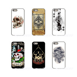 $enCountryForm.capitalKeyWord UK - Poker Skull Tatoo Hard Phone Case Cover For Apple iPhone X XR XS MAX 4 4S 5 5S 5C SE 6 6S 7 8 Plus ipod touch 4 5 6
