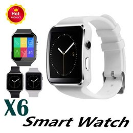 $enCountryForm.capitalKeyWord Australia - New X6 Bluetooth Smart Watch Passometer Sport Smartwatch With Camera Support SIM Card Whatsapp Facebook for Android Phone