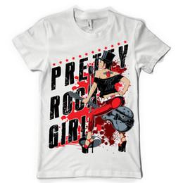 Hot Guitar Neck Australia - pretty rock girl rocker guitar playing pin up tattoo dtg mens t shirt tees summer o neck tee, free shipping cheap tee,2019 hot tees