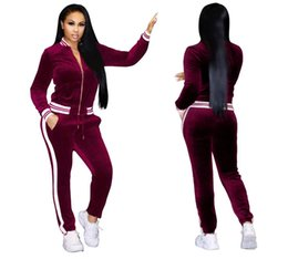 $enCountryForm.capitalKeyWord UK - Large Size Women Sport Wear Stand Collar Tracksuits Sexy Women Casual Suit Zipper Pullover With Pant Jogging 2pc Set
