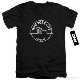 Discount york outlet - Nyc Slim Fit V-Neck T-Shirt New York Factory Outlet Tee Man T Shirt Round Neck Brand Clothing TShirt Cotton Plus Size Sh