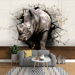 $enCountryForm.capitalKeyWord Australia - Cool 3D Large View Rhino Kung Fu Panda Elephant Lion Dolphin Wall Stickers Art Mural Decal Cartoon Wallpaper Bedroom Hallway Children Home