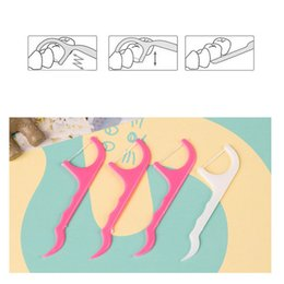 $enCountryForm.capitalKeyWord Australia - 25pcs set Plastic Toothpick Dental Floss Picks Waxed Teeth Toothpicks Stick Flossers Sword Oral Care Free Shipping