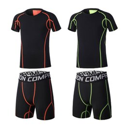 $enCountryForm.capitalKeyWord Australia - 2PCS short tracksuit set Men's Tracksuit Sports Suit Gym Fitness Compression Clothes Running Jogging Sport Wear Workout Tights