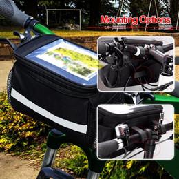 Bisiklet ön sepet üst çerçeve gidon çantası Pannier çantası açık