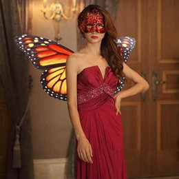 Wholesale butterfly wings for halloween online – ideas 44CM Built Fairy Butterfly Wings Breathable Costume For Dress Up Party Halloween Party Pratend Dress