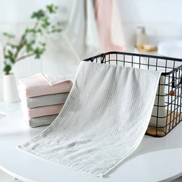 $enCountryForm.capitalKeyWord Australia - 2019 Pure Cotton Towels Striped Towel Soft and Comfortable Bathroom Luxury Bathroom Towel Absorbent and Quick-drying Face Towels