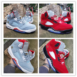 Designer names online shopping - with Box Trophy Room x Basketball Shoes Ice Blue Red Parent child joint name Designer Original Fashion Athletic Sports Sneakers