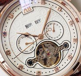 $enCountryForm.capitalKeyWord NZ - 2019 high quality luxury watch men's automatic mechanical brown leather designer men mens watches military sports business tourbillon clock