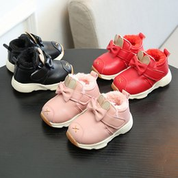 Girls Infants Shoes Australia - Baby Infant Shoes Girls Cartoon Leather Rabbit Boys Martin Sneakers Shoe Newborn Toddler First Walker Anti-Slip Dropshipping 823