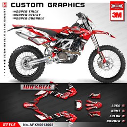 stickers dirt 2019 - KUNGFU GRAPHICS Dirt Bike Stickers Vinyl Wraps Red Decal Set for Aprilia SXV RXV 450 550 2006 2007 2008 2009 2010 2011 2