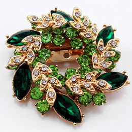 $enCountryForm.capitalKeyWord NZ - Fashion Rhinestone Crystal Bauhinia Female Ring Scarf Brooch Big New Elegant Crystal Flower Brooch Rhinestone Pin Romantic Wedding