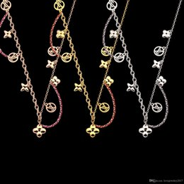rose long chain pendant Australia - luxury jewelry Rose Gold four leaf flower Pendant designer necklace 18K gold stainless sweater chain women long necklaces