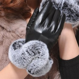 $enCountryForm.capitalKeyWord Australia - 2018 Fashion Warm Winter Gloves Female Leather Gloves Rabbit Fur Wrist Mittens Women's Warm Gloves Luxury Design Guantes Mitts S1025