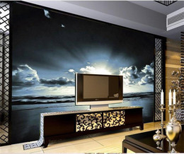 Beautiful Modern Bedding Australia - custom size 3d photo wallpaper living room bed room mural beautiful sunrise at sea view picture sofa TV backdrop wallpaper non-woven sticker