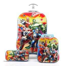 Wholesale 3D Stereo Hot Trolley Case Cute Kids Travel Suitcase Boy Girl Cartoon Lunch Bag Pencil Box The Children Gift