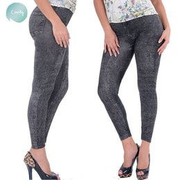 Ladies jeans sexy girLs online shopping - Pants Girl Lady Black Mid Sexy Jean Jeggings Stretchy Slim Plus Size Ankle Length Pants Women Jeans With High Quality