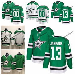 cheap dallas jerseys NZ - 2019 Mattias Janmark Dallas Stars Hockey Jerseys Mens Cheap Custom Name Home Green #13 Mattias Janmark Stitched Hockey Shirt S-XXXL