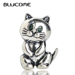 antique hats 2019 - ashion Jewelry Brooches Blucome Cute Animal Brooch Antique Silver Color Cat Brooches For Hat Scarf Sweater Shoulder Dres