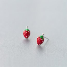 5f28ee3b9e1c Fruta roja 925 Pendiente de Plata Esterlina Moda Lindo Diminuto Pequeño  Fresa Stud Pendientes Regalos para Niñas Niños Señora ES259