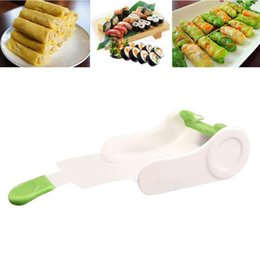 sushi rolling machine Canada - New Plastic DIY Easy Kitchen Accessories Perfect Magic Roll Sushi Maker Cutter Roller Machine Gadgets Onigiri Tool Sushi Roller