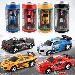 $enCountryForm.capitalKeyWord Australia - New style Creative Coke Can Remote Control Mini Speed RC Micro Racing Car Vehicles Gift For Kids Xmas Gift Radio Contro Vehicles